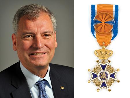 Voorzitter Eric van Schagen Officier in de Orde van Oranje-Nassau