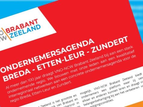 Ondernemersagenda VNO-NCW Breda versterkt ondernemers Breda, Zundert en Etten-Leur