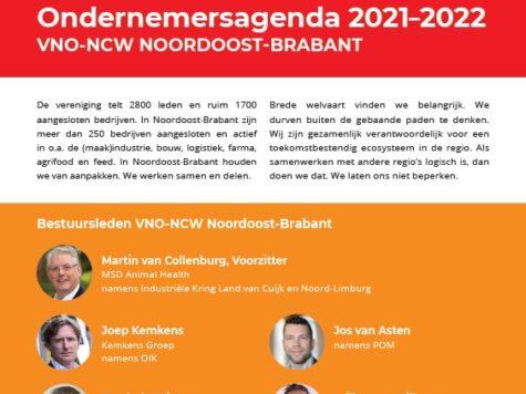 Ondernemersagenda 2021-2022 Noordoost-Brabant